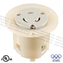 NEMA L6-20 Locking Flanged Outlet